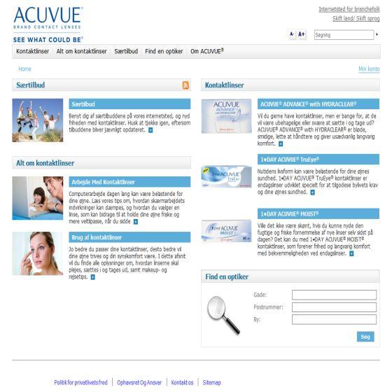 Acuvue kontaktlinser