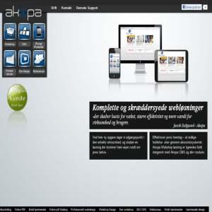 Akopa CMS mulighed for webshop med integration i økonomisystem
