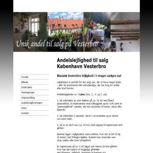 Andelslejlighed til salg København