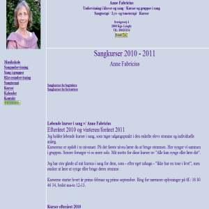 Anne Fabricius - Musikskole - Klaver- og sangundervisning