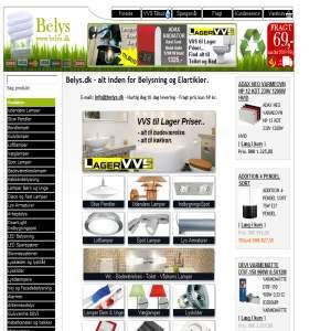 Belys.dk - Billige lamper & elartikler