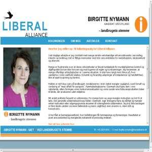 Birgitte Nymannn - FK i Liberal Alliance
