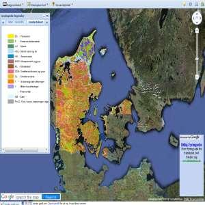 Danmarks Geologi - interaktive geologiske kort