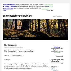 Danske dyr i haven