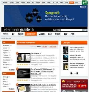 Elektronik.guide.dk - mp3-afspillere, mobiltelefoner og fladskærme