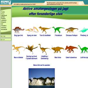 Fossiler fra syd�st Danmark - M�n og Falster