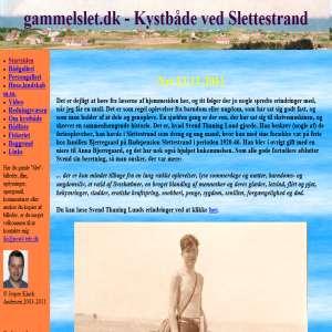 Gammelslet - Kystbåde ved Slettestrand