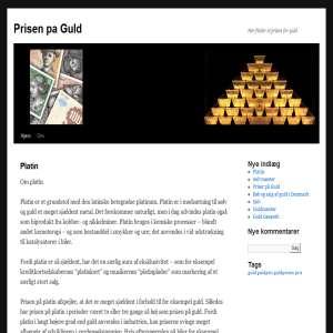 Guldpris - Priser på guld