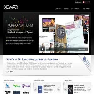 komfo.com - Facebook Applikationer