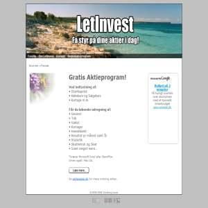 LetInvest.dk - Aktieprogram