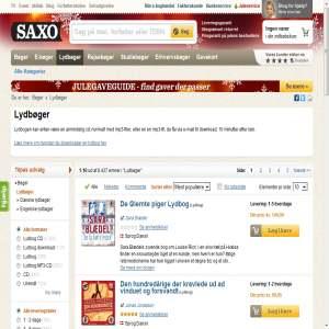 Lydbog.dk er danmarks største udbyder af lydbøger, sprogkurser m.v
