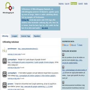 Mikroblogging Danmark