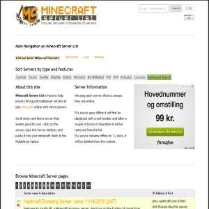 Minecraft servers liste