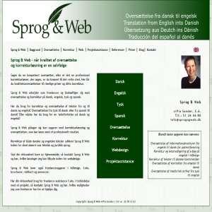 Sprog & Web