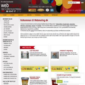Webmaling  - Billig kvalitets maling og træbeskyttelse