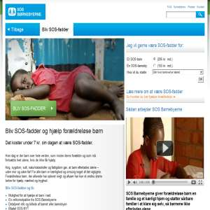 Bliv fadder - SOS B�rnebyerne