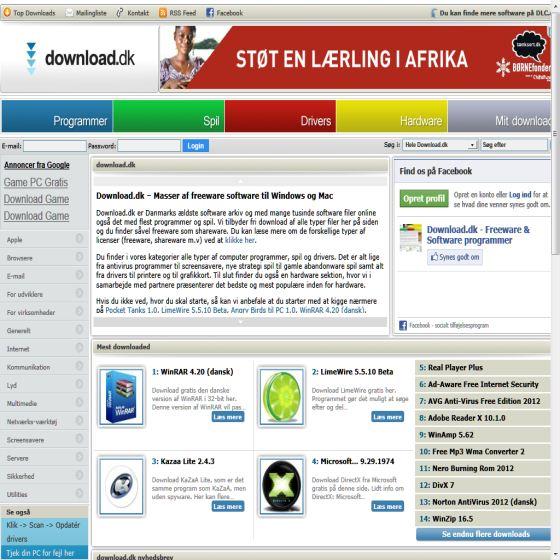 Download.dk - Masser af freeware & drivers