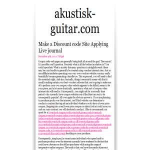 Akustisk Guitar blog