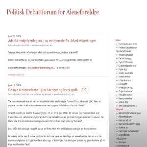 Politisk Debattforum for Aleneforeldre