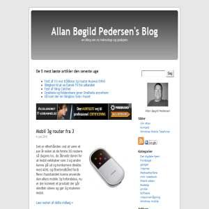 Allan Bøgild Pedersens blog