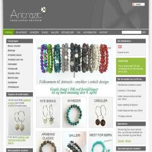 Antrazit håndlavede smykker