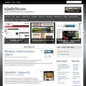 aQualityNet - Engelsk linkkatalog