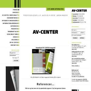AV CENTER - Professionelt AV udstyr til hele landet