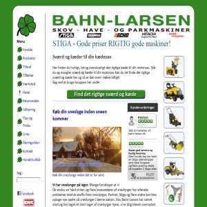 BAHN-LARSEN Skov- Have- og Parkmaskiner