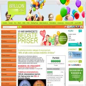 Salg af helium til balloner - Ballonsalg