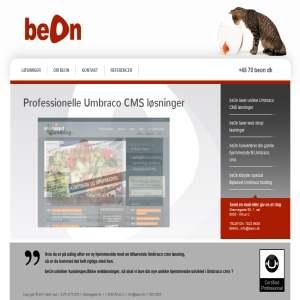 beOn - CMS hjemmeside