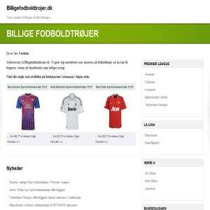 Billige fodboldtrøjer