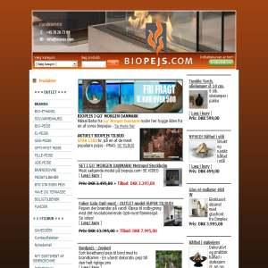 Biopejs.com - dansk designede skorstensfri kvalitets bio pejse