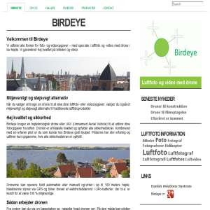 Birdeye, luftfoto - video udføres med drone