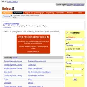 Boliger.dk - Lejebolig i København, Odense, Århus og Aalborg