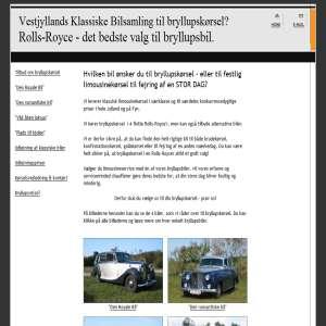 Bryllupsbil - klassisk limousinekørsel i Rolls Royce