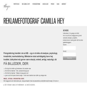 Reklamefotograf Camilla Hey