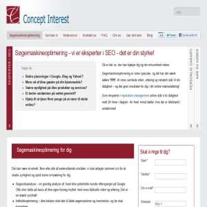 Søgemaskineoptimering ved Concept Interest