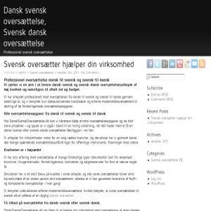 Dansk-Svensk oversættelse