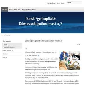 Dansk Egenkapital & Erhvervsobligation Invest A/S
