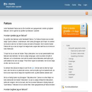 e-moms.dk | Simpelt online Regnskabsprogram