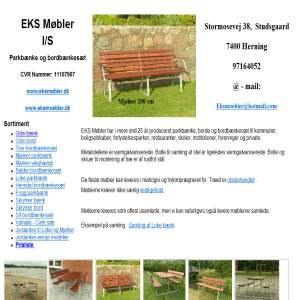 Parkbænke fra EKS møbler