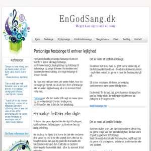 EnGodSang.dk - Her kan du bestille festsange