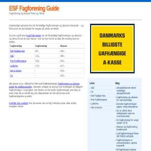 ESF Fagforening & Akasse Guide