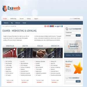 Exaweb ApS - Hosting og udvikling