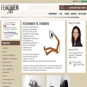 Fenomen.dk - boligtilbehør - online shop