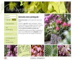 findhaveplanter.dk - Danmarks store planteguide