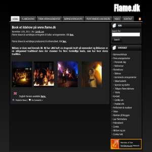 flame.dk - ildshow og live musik til din fest