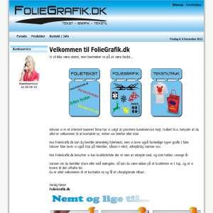 Foliegrafik.dk - Tekst - Grafik - Tekstil