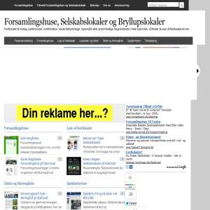 Forsamlingshuse & Selskabslokaler i hele Danmark