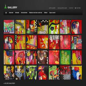 Galleri Elkjær - farverige malerier af kunstner Hanne Elkjær